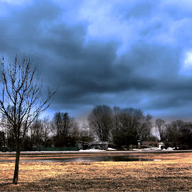 Cloudy Winter by Ramasubramaniyan Krishnamoorthy - Landscapes Weather ( michigan, weather, us, travel, landscape, colours )
