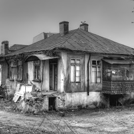 Old house by Carmen Laura - Buildings & Architecture Decaying & Abandoned ( building, old, black and white, house, abandoned )