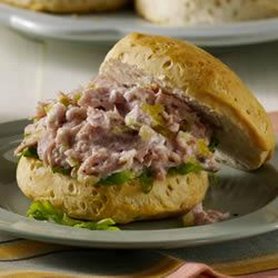 Ham Salad on Biscuits