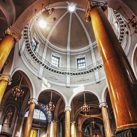 Church of S. Giuseppe by Andrea Conti - Buildings & Architecture Places of Worship ( arcades, milan, interior, san giuseppe, monza, church, italia, cupola, columns, architecture, seregno, italy )