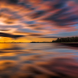 The Dawn by Awais Khalid - Landscapes Sunsets & Sunrises ( exposure, clouds, water, silk, dawn, colorful, still, sunrise, long, landscape, formation )