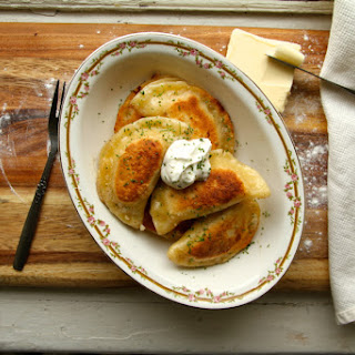 Words [Potato and Aged Cheddar Perogies]