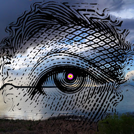 The Eye of the Storm by Joerg Schlagheck - Digital Art Abstract ( ten, canada., symbol, art, weather, dollar, storm, eye )