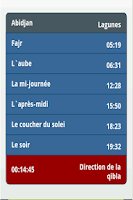 Screenshot of Horaire de Prière & Qibla
