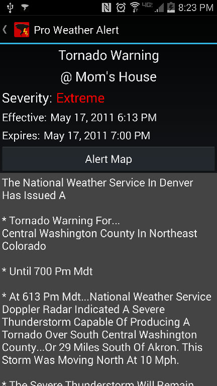 Pro Weather Alert Screenshot 1
