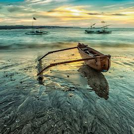 bot at kelan beach by Dek . - Landscapes Sunsets & Sunrises