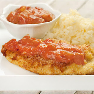 Cornmeal-Crusted Chicken with Southern Tomato Gravy