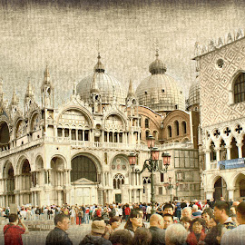Venice, Piazza San Marco by Iva Aviana - City,  Street & Park  Historic Districts ( doge palace, historical buildings, texture, waiting, piazza san marco, buildings, venice, people, italy )