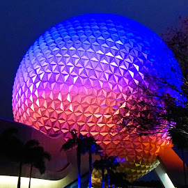 Spaceship Earth  by Dean Ramsay - Buildings & Architecture Other Exteriors ( spaceship earth, florida, epcot, disney )