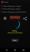Screenshot of lolApp : Whatsapp Image Hide