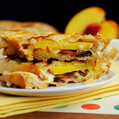Bacon, Cheese & Peach Paninis