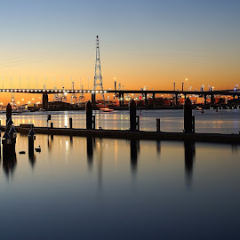 Bolte Bridge, Sunset by Nilam Deo - Buildings & Architecture Bridges & Suspended Structures ( melbourne, sunset, australia, bridge, docklands, bolte bridge )