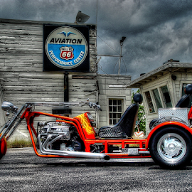 Riding the storm out by Martin Dunaway - Transportation Motorcycles