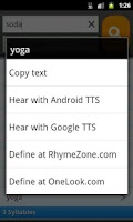 Screenshot of RhymeZone Rhyming Dictionary
