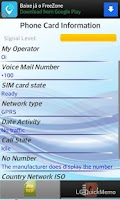 Screenshot of SIM Card Information & Phones