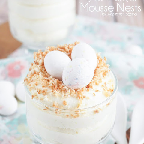 White Chocolate Mousse Nests