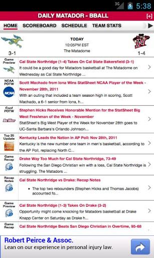 CSUN Basketball by StatSheet