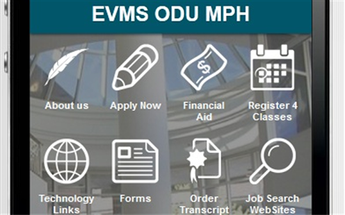 EVMS ODU MPH Program - screenshot