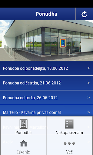 hofer-slovenija for android screenshot