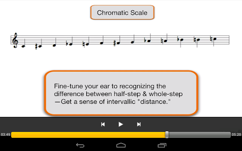 Melodies, Intervals and Scales - screenshot