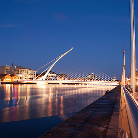 The Samuel Beckett Bridge by Les Broad - Buildings & Architecture Bridges & Suspended Structures ( landsape, dublin, bridge, liffey, river )
