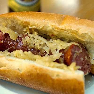 Beer and Brown Sugar Kielbasa & Sauerkraut