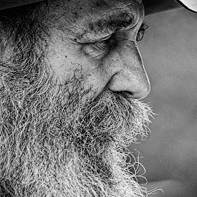 The Banjo Player by Steven Faucette - People Portraits of Men ( mill, sc, beard, musician, pickens, man, hagood,  )