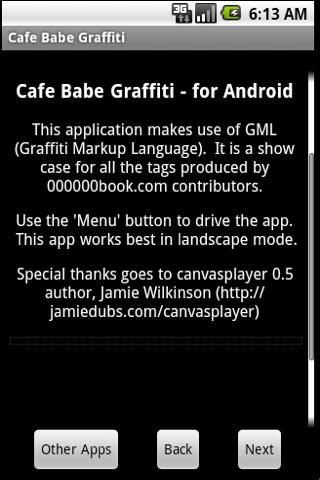 Cafe Babe Graffiti Viewer