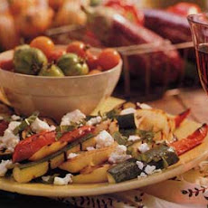 Grilled Ratatouille Salad with Feta Cheese