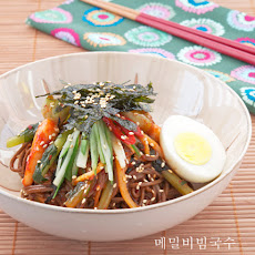 Cold Buckwheat Noodles w/ Spicy Chili Sauce