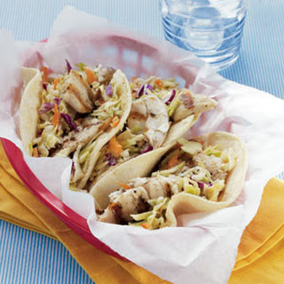 Fish Tacos with Sesame-Ginger Slaw