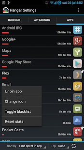 Hangar - Smart app shortcuts Screenshot