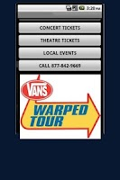 Screenshot of Vans Warped Tour Tickets
