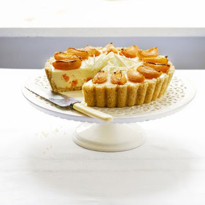 White Chocolate & Apricot Cheesecake