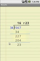Screenshot of Show Your Work Calculator
