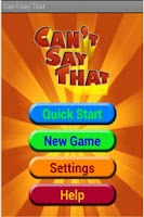 Screenshot of Can't Say That (Free)