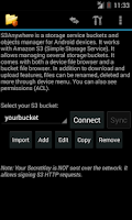 Screenshot of S3Anywhere (Amazon S3 cloud)