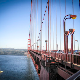 Golden Gate at Sunset by Shawn Klawitter - Buildings & Architecture Bridges & Suspended Structures ( golden gte bridge, park, sunset, bridge, landscape, Urban, City, Lifestyle )