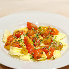 Ricotta Raviolini with Melted Tomatoes