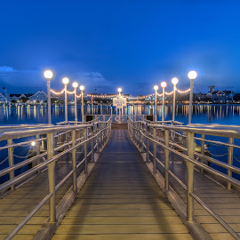 Boardwalk at sunrise by Justin Galusha - Buildings & Architecture Other Exteriors ( sunrise, disney, boardwalk )