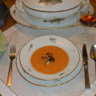 """Why am I not in Gascony the week after Labor Day?"" Carrot and Red Pepper Soup"
