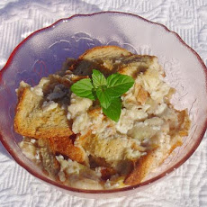 Banana Nutmeg Bread Pudding