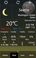 Screenshot of Weather Checker