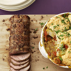 Roast Pork Loin in Horseradish Crust