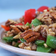 Brown and Wild Rice Salad with Snow Peas (or Sugar Snap Peas) and Peppers