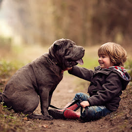 I Love My Doggie by Claire Conybeare - Chinchilla Photography - Babies & Children Toddlers