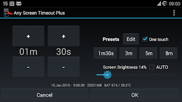 Screenshot of Any Screen Timeout Plus