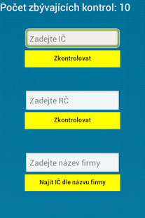 Kontrola Registrů - screenshot
