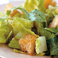 Caesar Salad with Homemade Croutons and Balsamic Dressing