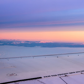 Do NOT walk outside this area by Cosmin Stahie - Transportation Airplanes ( carpathian, mountains, wing, do not walk outside this area, window, plane, airplane, boeing, sunrise, view, morning )